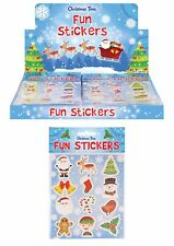 5 x Christmas Themed Sticker Sheets Kids Party Loot Bag Fillers Favours Prizes
