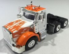 Herpa Promotex 1/87 Peterbilt 367 Orange Flames Tractor Trailer Truck Cab