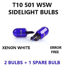 2 x 501 T10 W5W 12V BLUE XENON LOOK Parking Sidelight Bulbs - PURE WHITE LIGHT