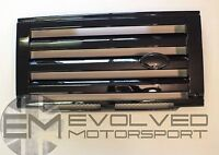 SVX Style Front Grille (Gloss Black) + headlamp cases fits Land Rover Defender