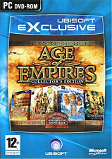 Age of Empires Collector's Gold Edition 1&2 with 2 Expansion Packs Fast Shipping