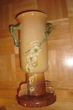 """Vintage Art Deco Floral Vase 14.5"""" ROSEVILLE Pottery Wincraft Vase 263-14   USA"""