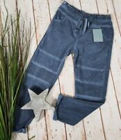 NEU ITALY BAGGY JOGPANTS HOSE SWEAT PANTS BIKER STYLE WASHED BLUE 38-42