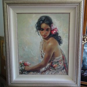 """Jose Royo Serigraph """"Andaluza"""" (2001) Hand Signed and Numbered"""