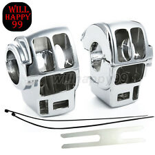 Chrome Switch Housing Covers for Harley Davidson Electra Glide Road King FLH T R