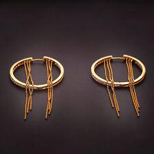 Classy 2.05 Cts Natural Diamonds Hoop Earrings In Fine Hallmark 18K Yellow Gold