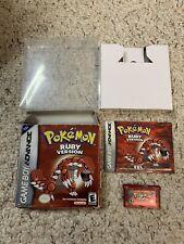 Pokemon Ruby Version  (Nintendo Game Boy Advance, 2003) CIB Box Manual & Game