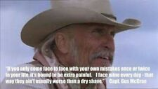 """Lonesome Dove Gus Quote refrigerator magnet  3""""x 4"""""""