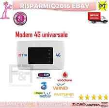 MODEM 4G 3G WI FI WIRELESS PORTATILE TIM UNIVERSALE TRE VODAFONE WIND NUOVO