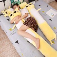 2019 Large Size Pillow Yellow Cat Soft Stuffed Animal Plush Toys Xmas Kids Gift