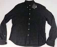 NEW EIDOS NAPOLI $315 MENS COTTON FLANNEL LONG SLEEVE SHIRT SIZE 42 16.5