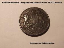 British East India Company One Quarter Anna 1835. AH6341.