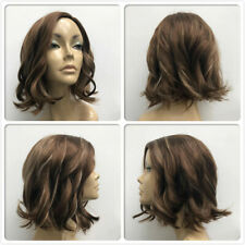 HEAT RESISTANT NEW FASHION WAVES BROWN BLONDE MIX LADY WOMENS DAILY FULL WIG UK