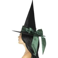 Halloween Witches Hat Ladies Fancy Dress Accessory Witch Hat + Bow