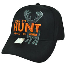 Born Hunt Forced to Work Black Buck Deer  Outdoors Sport Hunting Hat Cap