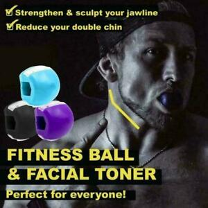 Silica Gel Jawline Exercise Ball Face Jaw Toner Trainer Fitness Ball Jaw Line UK