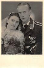 Hocheitsfoto Luftwaffen - Soldat EK 2, Spange Andenker Foto