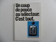 Brochure la boite automatique MERCEDES-BENZ de 02 / 1971
