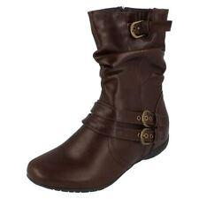 Calzado de mujer Botas de caña media de color principal marrón talla 41