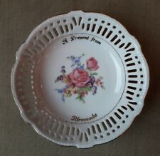 A Present from Ilfracombe 13cm diameter latticework dish in perfect condition