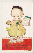 Artist postcard - On My List of Dears by Mabel Lucie Attwell - No. 1822
