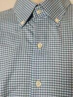 Peter Millar Crown Soft Long Sleeve Button Down Shirt Check Mens XL