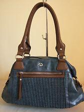 Moderne Gerry Weber Damen Leder Tasche blau designer handbag large Leder neu
