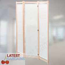 Wooden Room Divider Partition Office Home Folding Privacy Screen Fabric