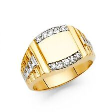 Men's 14K two tone gold ring EJRG1467