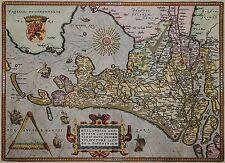 Hollandiae Antiquorum Catthorum - Ortelius 1602 - Niederlande im Altertum - Rar
