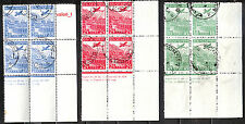1932 Bulgaria Junkers plane, Rila monastery Air post stamps C12-14 Bl. of 4 used