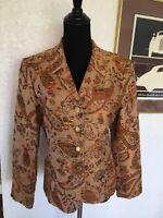 Bergamo By EBI Paisley Blazer Size 6