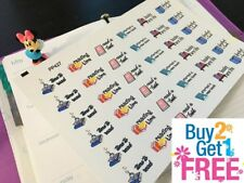 PP427 -- Book Lovers Reading Time Life Planner Stickers for Erin Condren (36pcs)