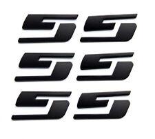 3X OEM SS Emblems Badges Stickers for GM Chevrolet Silverado WU Big Matte Black