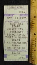 New ListingIsaac Black Moses Of Soul Hayes 1975 Ticket Frankfort Kentucky State Shaft