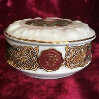 Vintage IRISH  Porcelain Trinket Dish. CRE. Handmade Celtic Knot Made In Galway
