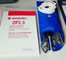 New listing Suzuki Outboard Operation & Maintenance Manual W/ Tool Kit Df2.5 99011-97J60-03B