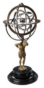 18th Century Atlas Armillary Sphere Globe Antique Reproduction