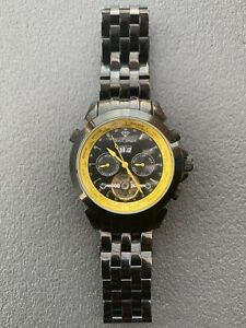Yves Camani Automatic Black YC1029-N Watch Mens  Black Yellow