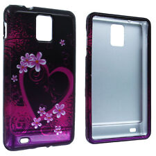 Purple Love Design Snap-On Hard Case Cover for Samsung Infuse 4G i997
