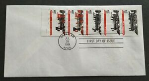 USA 1994 Locomotive Trains Stamp FDC (official iss)mild toned 美国蒸汽火车首日封(微黄)Lot D