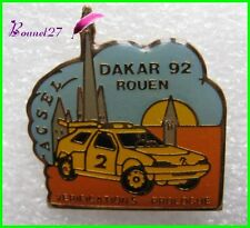 Pin's pins Badge Le Paris DAKAR Voiture Car 92 Rouen Ascel  #F1