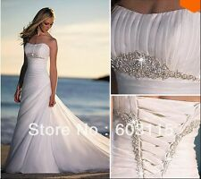 2015 Perfect Elegant  White/Ivory Wedding Dress Bridal Dress Custom Size