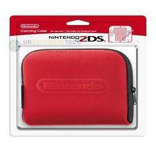 Offiziell Nintendo 2DS Kundenspezifischer Fit Trage Etui (Rot)