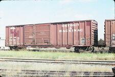 1993 Detroit & Mackinac Rwy Box Car #43204 - Orig 35mm Railroad Slide
