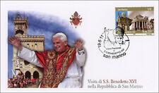 Busta Primo Giorno Papa Benedetto XVI a San Marino