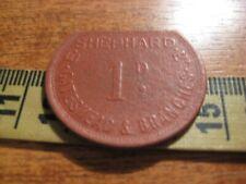 E Shephard Ltd. Gateshead & Branches ( Boot & Shoe shop ) 1d vintage trade token