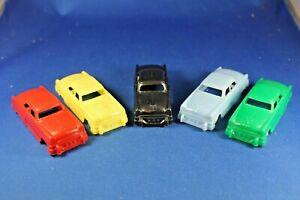 Plasticville - O-O27 - #V-6 - Original vintage Autos (5) - Excellent