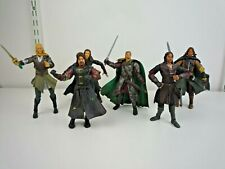 """LORD OF THE RINGS 6 LARGE 7"""" FIGURES WITH A FEW WEAPONS"""