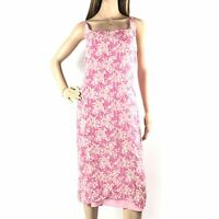 Jigsaw Womens Pink Midi Dress Size 12 Floral Floaty Summer Ladies Strappy
